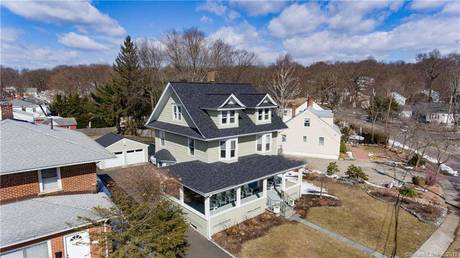 Single Family Home Sold in Fairfield CT 06825. Old colonial house near waterfront with swimming pool and 2 car garage.