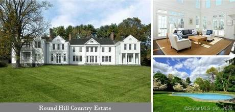Luxury Mansion Sold in Greenwich CT 06831. Big colonial house near waterfront with swimming pool and 4 car garage.