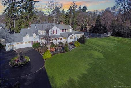 Single Family Home Sold in New Canaan CT 06840. Old colonial house near waterfront with 3 car garage.