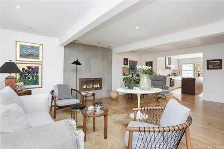 Condo Home Sold in Greenwich CT 06830.  townhouse near beach side waterfront with 1 car garage.