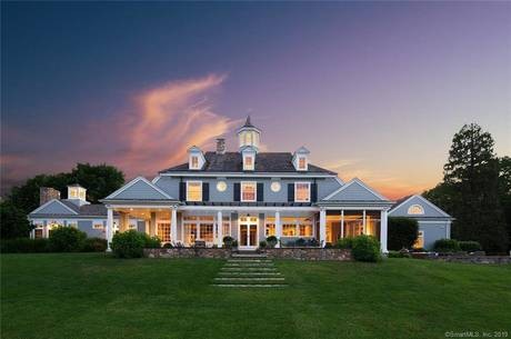 Luxury Single Family Home Sold in Fairfield CT 06824. Colonial house near waterfront with 5 car garage.