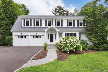 Single Family Home Sold in Darien CT 06820. Old colonial house near beach side waterfront with 2 car garage.