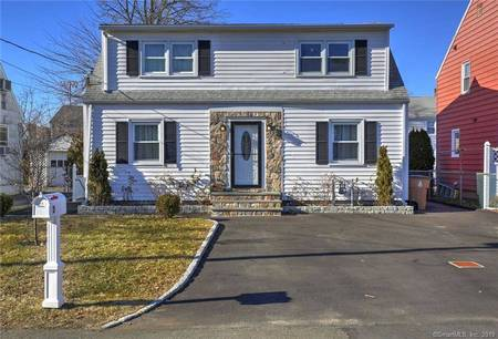 Single Family Home Sold in Stamford CT 06902. Colonial house near beach side waterfront.