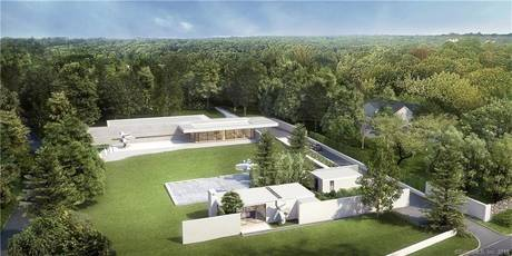Luxury Mansion For Sale in New Canaan CT 06840. Big contemporary house near waterfront with 8 car garage.