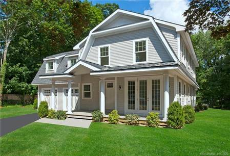 Single Family Home Sold in New Canaan CT 06840.  cape cod house near waterfront with 2 car garage.