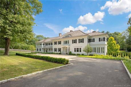 Luxury Mansion Sold in New Canaan CT 06840. Big colonial house near waterfront with swimming pool and 3 car garage.
