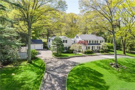 Single Family Home Sold in Darien CT 06820. Old colonial house near waterfront with 4 car garage.