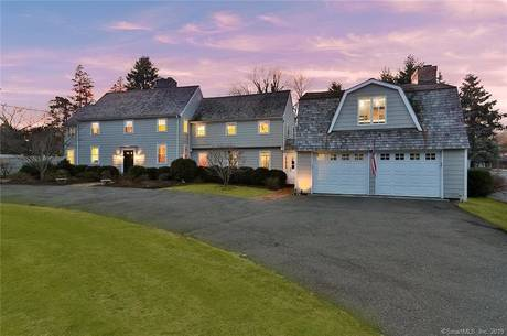 Single Family Home Sold in Fairfield CT 06890. Colonial house near waterfront with swimming pool and 2 car garage.