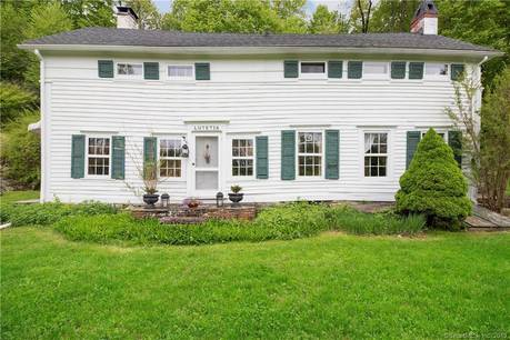 Single Family Home Sold in Sherman CT 06784. Old colonial, antique house near river side waterfront.