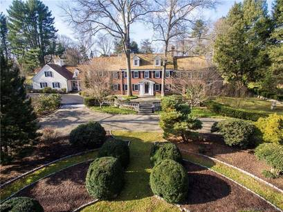 Luxury Mansion For Sale in Westport CT 06880. Old colonial, georgian house near beach side waterfront with swimming pool and 3 car garage.