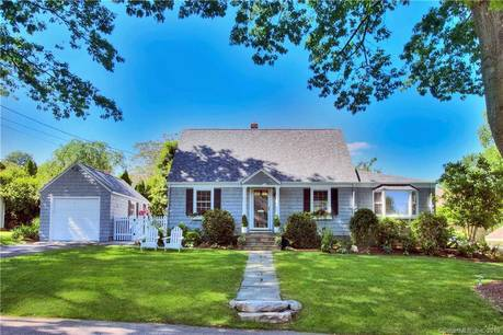 Foreclosure: Single Family Home Sold in Fairfield CT 06824.  cape cod house near beach side waterfront with 1 car garage.