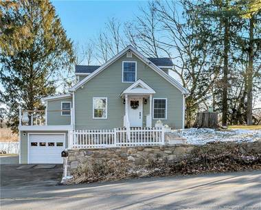 Single Family Home Sold in Shelton CT 06484.  cape cod house near lake side waterfront with 1 car garage.