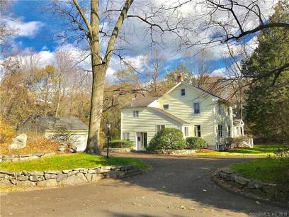 Single Family Home Sold in Darien CT 06820. Old  farm house near beach side waterfront with 2 car garage.