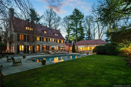 Luxury Single Family Home Sold in Westport CT 06880. Old colonial house near waterfront with swimming pool and 3 car garage.