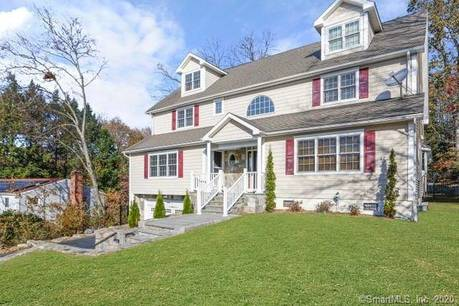 Single Family Home Sold in Stamford CT 06902. Colonial house near waterfront with 2 car garage.