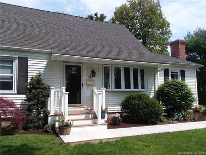 Single Family Home Sold in Stratford CT 06615.  cape cod house near beach side waterfront with 1 car garage.