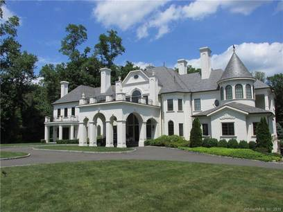 Luxury Mansion For Sale in Greenwich CT 06830. Big  house near waterfront with swimming pool and 4 car garage.