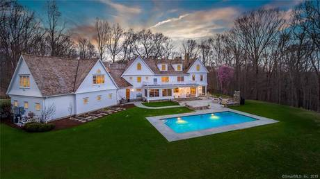 Single Family Home Sold in Wilton CT 06897. Colonial house near waterfront with swimming pool and 5 car garage.