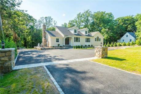 Single Family Home Sold in Stamford CT 06903.  cape cod house near waterfront with 2 car garage.
