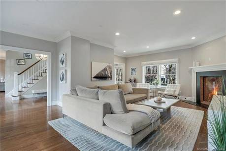 Single Family Home Sold in Greenwich CT 06830. Colonial house near river side waterfront.