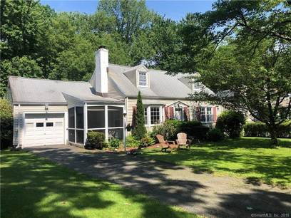 Single Family Home Sold in Stamford CT 06907.  cape cod house near waterfront with 1 car garage.