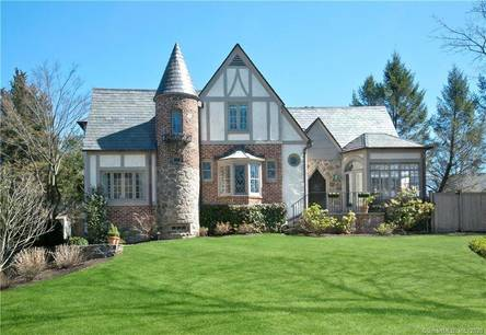 Single Family Home Sold in Greenwich CT 06830. Old tudor house near waterfront with 1 car garage.
