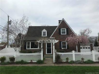 Single Family Home Sold in Stratford CT 06615. Old  cape cod house near beach side waterfront with 1 car garage.