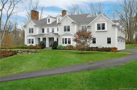 Luxury Mansion For Sale in New Canaan CT 06840. Big colonial house near waterfront with 3 car garage.