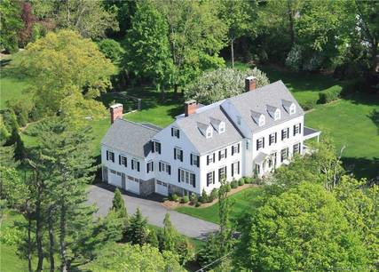 Single Family Home Sold in Ridgefield CT 06877. Old colonial house near waterfront with 4 car garage.
