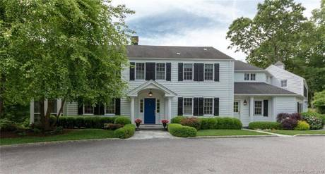 Single Family Home Sold in Wilton CT 06897. Old colonial house near river side waterfront with 3 car garage.