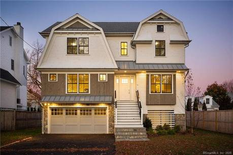 Single Family Home Sold in Fairfield CT 06824. Colonial house near beach side waterfront with 4 car garage.