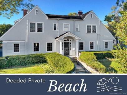 Single Family Home Sold in Stamford CT 06902. Old colonial house near beach side waterfront with swimming pool and 2 car garage.