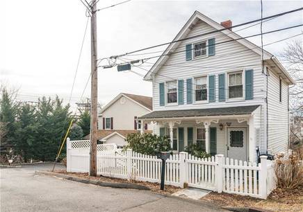Single Family Home Sold in Greenwich CT 06830. Old colonial house near waterfront.