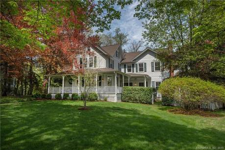 Single Family Home Sold in Darien CT 06820. Old victorian, colonial house near beach side waterfront with 2 car garage.