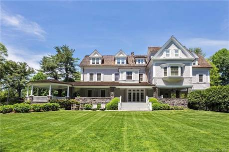 Luxury Mansion Sold in Greenwich CT 06830. Old victorian house near waterfront with 2 car garage.