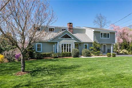 Single Family Home Sold in Ridgefield CT 06877. Contemporary cape cod house near waterfront with swimming pool and 2 car garage.