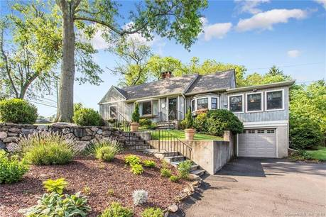 Single Family Home Sold in Stamford CT 06902.  cape cod house near waterfront with 1 car garage.