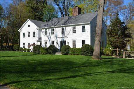 Luxury Single Family Home Sold in Darien CT 06820. Colonial house near beach side waterfront with swimming pool and 2 car garage.