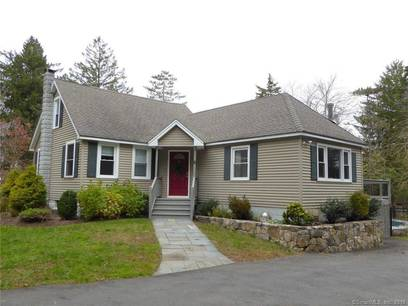 Single Family Home Sold in Newtown CT 06482.  cape cod house near waterfront with swimming pool and 1 car garage.
