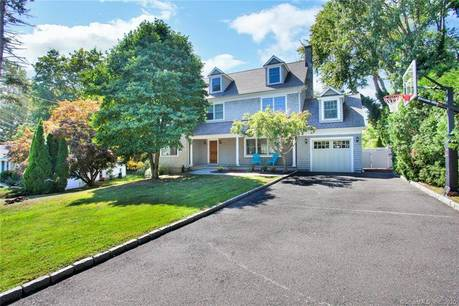 Single Family Home Sold in Greenwich CT 06870. Colonial house near beach side waterfront with 1 car garage.