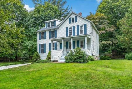 Single Family Home For Sale in New Canaan CT 06840. Old  farm house near waterfront.