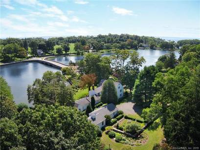 Luxury Single Family Home Sold in Darien CT 06820. Old colonial house near waterfront with 2 car garage.