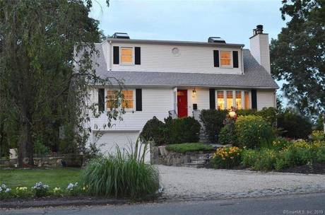 Single Family Home Sold in Stamford CT 06902.  cape cod house near beach side waterfront with 1 car garage.