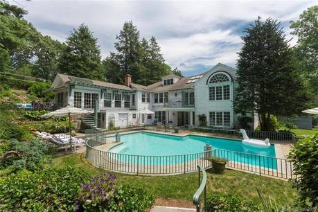 Single Family Home Sold in Darien CT 06820. Old  house near beach side waterfront with swimming pool and 3 car garage.