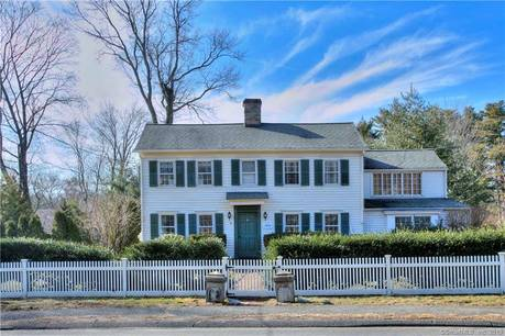 Single Family Home Sold in Westport CT 06880. Old colonial, antique house near beach side waterfront with swimming pool and 2 car garage.