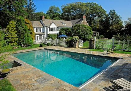 Single Family Home For Rent in Greenwich CT 06830. Old colonial house near waterfront with swimming pool and 3 car garage.
