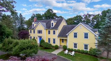 Single Family Home Sold in Weston CT 06883. Colonial house near beach side waterfront with swimming pool and 3 car garage.