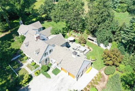 Luxury Single Family Home Sold in Darien CT 06820. Old  cape cod house near beach side waterfront with 2 car garage.