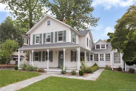 Single Family Home For Sale in Darien CT 06820. Old  farm house near beach side waterfront with 1 car garage.