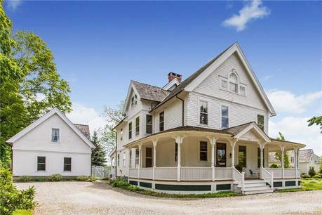 Single Family Home Sold in Fairfield CT 06890. Old victorian, colonial house near beach side waterfront with 2 car garage.